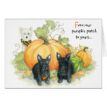 Terrier Halloween greetings! Greeting Card