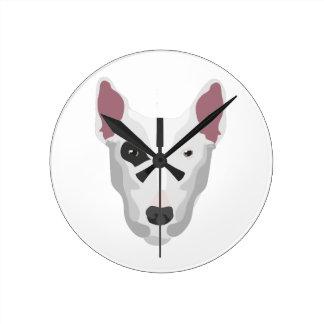 Terrier Head Round Wall Clock