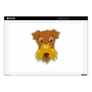 Terrier Head Laptop Decals