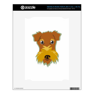 Terrier Head Skins For The NOOK