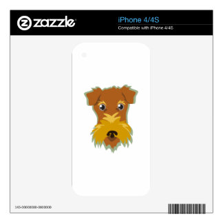 Terrier Head Decals For The iPhone 4