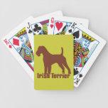 Terrier irlandés baraja de cartas bicycle