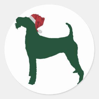 Terrier irlandés pegatina redonda