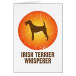 Terrier irlandés tarjeta