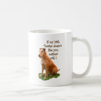 Terrier irlandés taza básica blanca