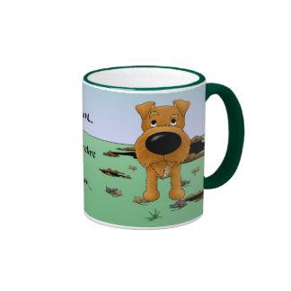Terrier irlandés (terrieres irlandeses) que cazo…  tazas
