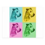 """Terrier irlandesa """"pop-art """" tarjeta postal"""