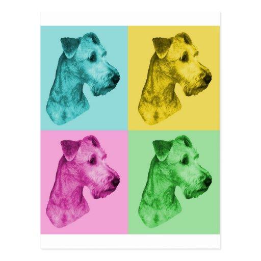 """Terrier irlandesa """"pop-art """" tarjetas postales"""