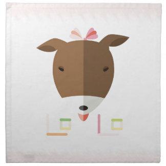 Terrier Lolo-origami de Jack Russell Servilleta De Papel