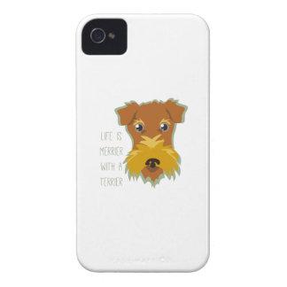 Terrier más feliz iPhone 4 Case-Mate coberturas