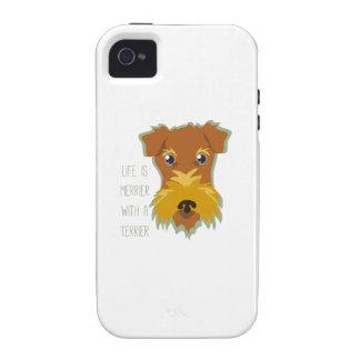 Terrier más feliz iPhone 4 carcasas