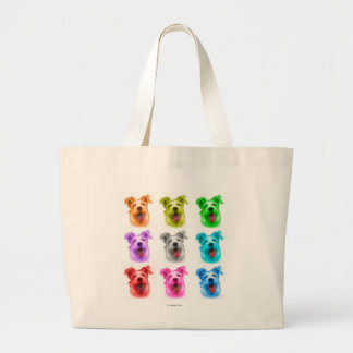 Terrier Mix 2989 - WB Large Tote Bag