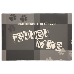 Terrier Mode Funny Dog Pawprints Colorblocks Doormat