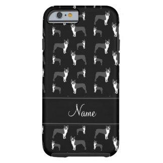 Terrier negro conocido personalizado de Boston Funda Resistente iPhone 6