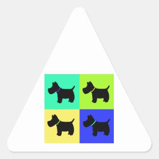 Terrier Print Triangle Sticker