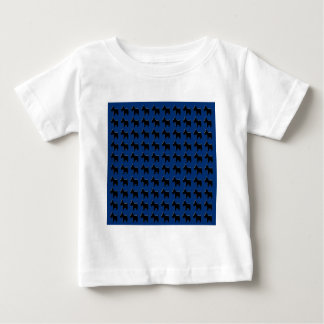 Terrier Prints with Midnight Blue Background Shirt