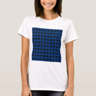 Terrier Prints with Midnight Blue Background T-Shirt