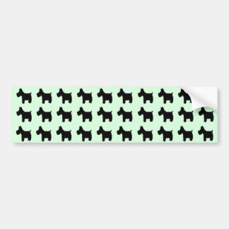 Terrier Prints with Mint Green Background Car Bumper Sticker