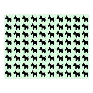 Terrier Prints with Mint Green Background Postcard