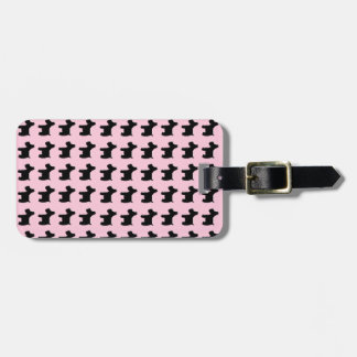 Terrier Prints with Pink Background Tags For Bags