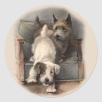Terrier Puppies Stickers
