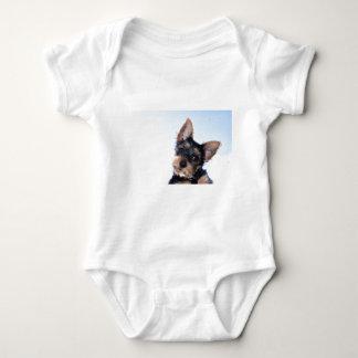 Terrier puppy baby bodysuit