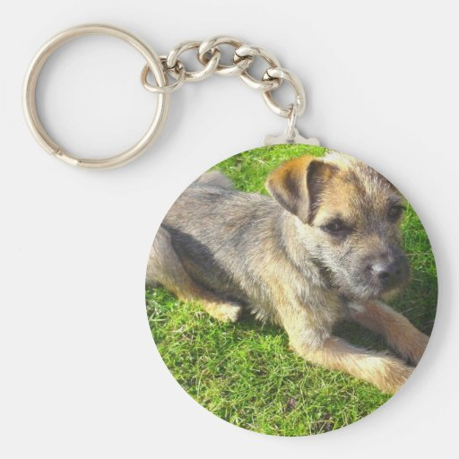 Terrier Puppy Keychain