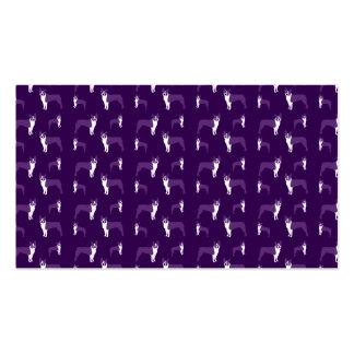 Terrier púrpura de Boston Plantillas De Tarjetas De Visita