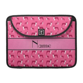 Terrier rosado conocido personalizado de Boston Funda Macbook Pro