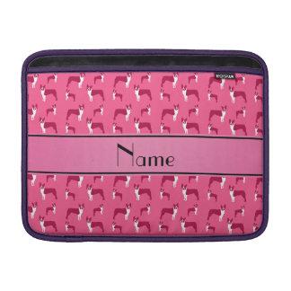 Terrier rosado conocido personalizado de Boston Funda Para Macbook Air
