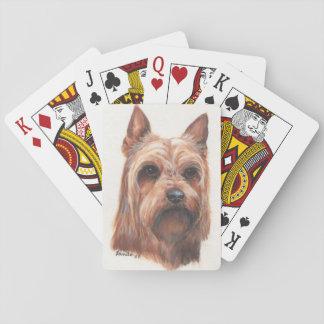 Terrier sedoso cartas de póquer