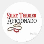 Terrier sedoso etiquetas redondas