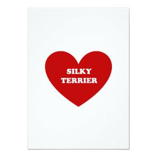 """Terrier sedoso invitación 5"""" x 7"""""""
