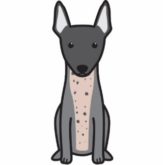 Terrier sin pelo americano escultura fotográfica