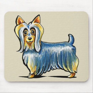Terrier tan sedoso mouse pads