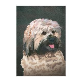 Terrier tibetano impresión en lienzo