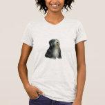 Terrier tibetano - negro/blanco camiseta