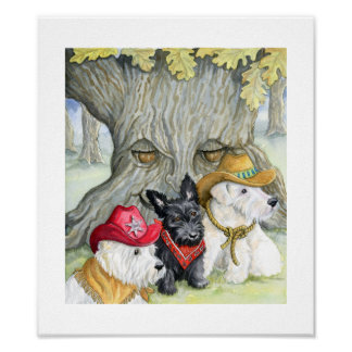 Terrier trio western adventure poster
