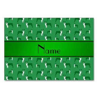 Terrier verde conocido personalizado de Boston