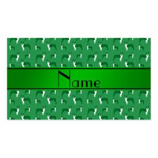 Terrier verde conocido personalizado de Boston Tarjeta Personal