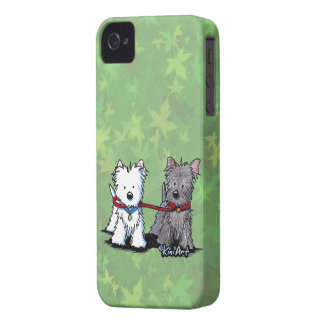 Terrier Walking Buddies iPhone 4 Cover