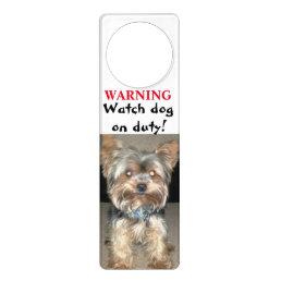 TERRIER WATCH DOG door hanger