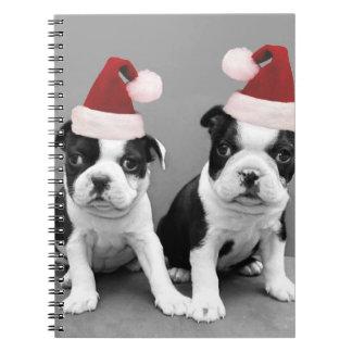 Terrieres de Boston del navidad Cuaderno