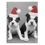 Terrieres de Boston del navidad Cuadernos