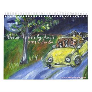 Terrieres de Boston por el calendario de Angie