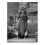 Terrieres de Boston y moda de los años 20 Postal