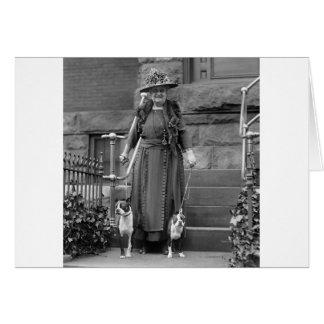 Terrieres de Boston y moda de los años 20 Tarjeta De Felicitación