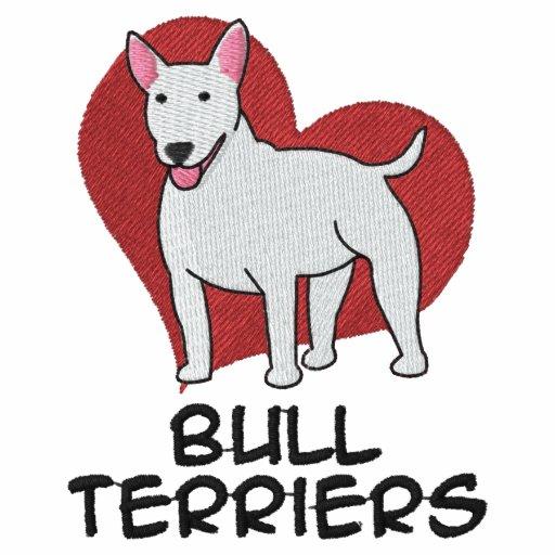 Terrieres de Bull del corazón Sudadera Con Serigrafía