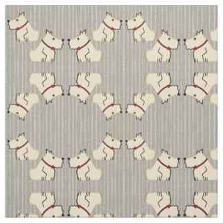 Terrieres de marfil en rayas grises de antaño del telas
