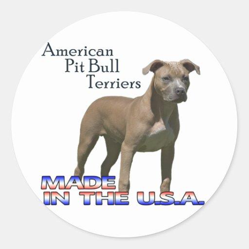 Terrieres de pitbull americanos: Pegatinas grandes Etiquetas Redondas